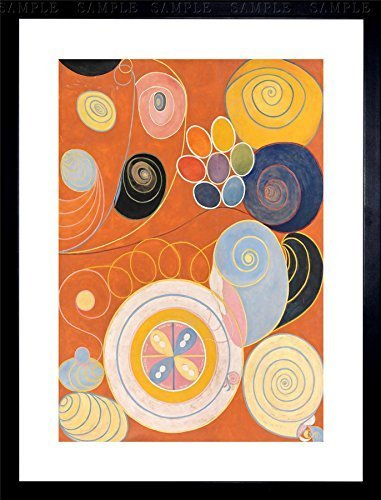 - Modern Hilma AF KLINT Abstract Painting Framed Art Print F12X8569