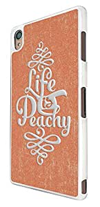 702 - Life is Peachy Design For Sony Xperia Z4 Fashion Trend CASE Back COVER Plastic&Thin Metal