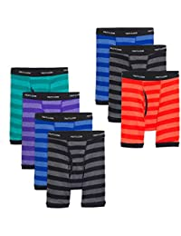 boys Boxer Brief, Exposed and Covered Waistband, Assorted