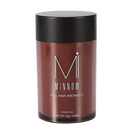 Fibras Capilares Fibras de pelo corrector engrosamiento del pelo fibras de construcción en polvo para hombres y mujeres (Rojo marrón)