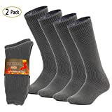 Mens Thermal Socks Thick Heat Trapping Insulated Heated Boot Socks Pack of 2,Mens shoe 9-12; Womens 10-13.5