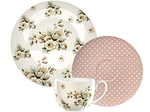 Creative Tops Katie Alice Porcelain Cottage Flower Tea Gift Set, Multi-Colour