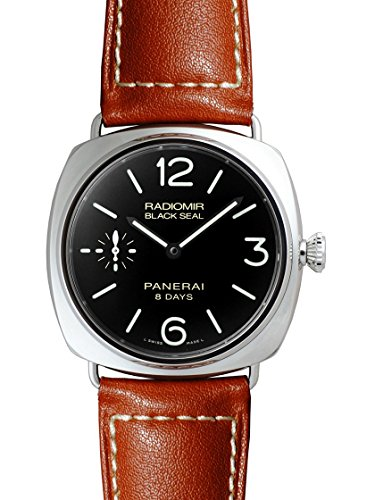 Panerai Men's Swiss Automatic Watch with Stainless Steel Strap, Black (Model: PAM00609