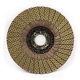 4 Inch Diamond Flap Disc 60 Grit Grinding Wheel for Ceramic Glass Rubber Plastic Concrete Hard Material Sanding