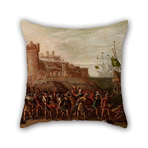 [Artistdecor Pillow Shams Of Oil Painting Circle Of Juan De La Corte - Deborah And Barak Against Sisera 20 X 20 Inches / 50 By 50 Cm,best Fit For Lover,pub,sofa,monther,drawing Room,study Room] (Diy Sushi Dog Costume)