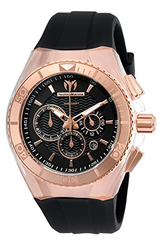 Technomarine Women's 'Cruise' Quartz Stainless Steel and Silicone Casual Watch, Color:Black (Model: TM-115034)