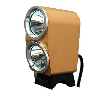 Équipement cycliste étanche LED lumière Phares L2 double lumière Spot Lights , gold