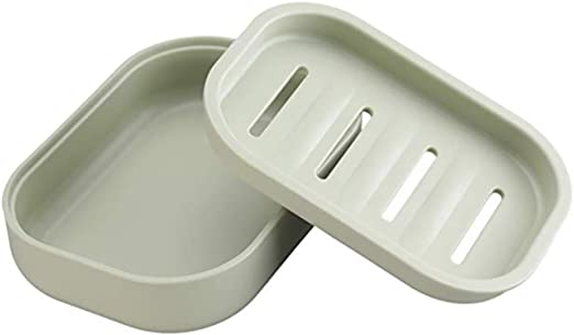 Retro Bathing Shower Soap Box Tray Drain Holder Plate Bathroom Soap Container