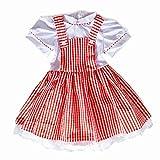 HUALIL Summer Dress Girls Gingham Vintage Plaid Strappy Suspender School Tutu Dresses