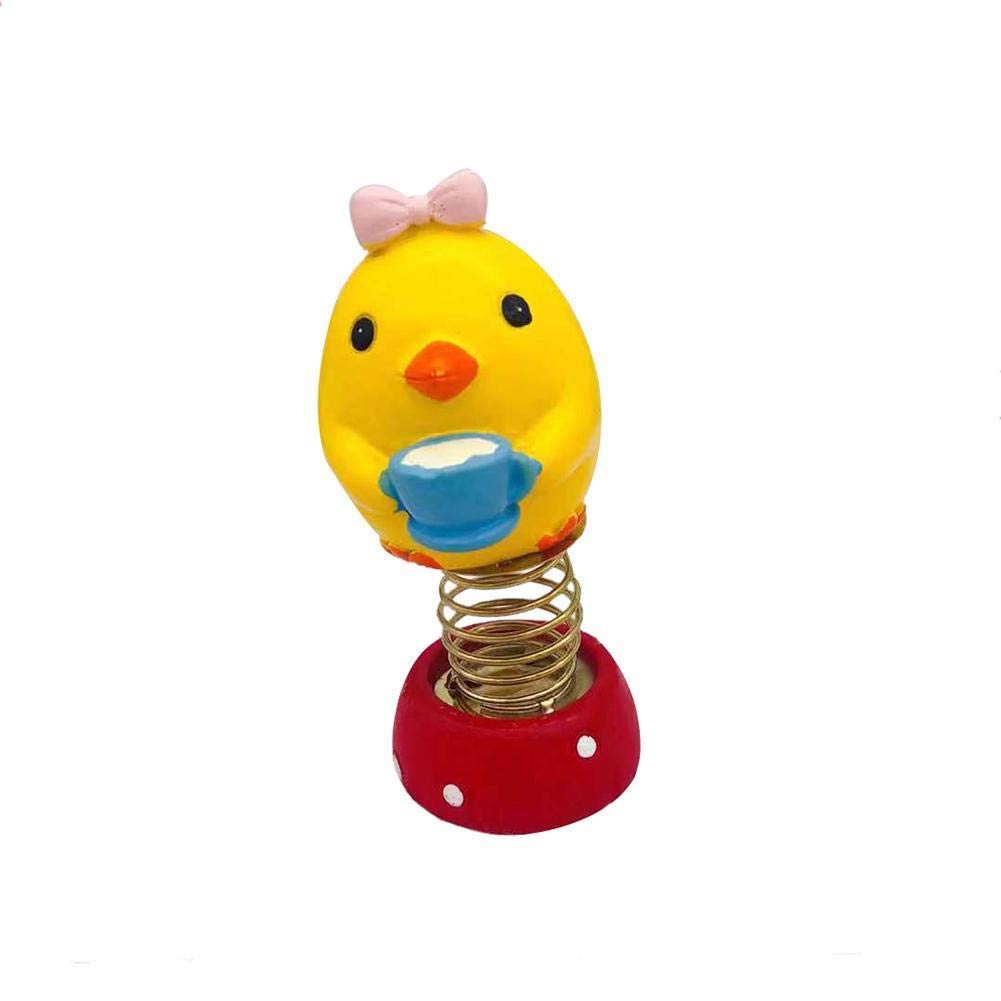 AA-fashion Toys Gift Lovely Chick Spring Dancing Animal Car Decor Swinging Animated Dancer Toy Kids