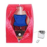 MegaBrand 2L Portable Steam Sauna Tent SPA Detox Weight Loss w/ Chair Red