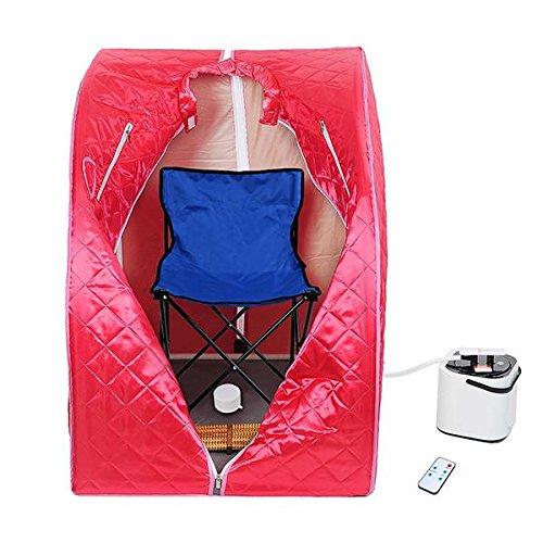MegaBrand 2L Portable Steam Sauna Tent SPA Detox Weight Loss w/ Chair Red