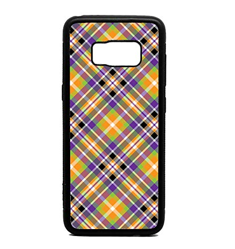 Phone Case Purple and Orange Halloween Plaid Print for Galaxy S8 ()