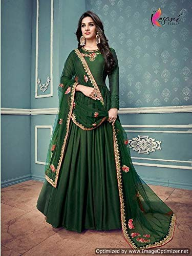 66749bda2343 Amazon.com  Indian gown for party wear in green color