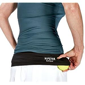 חגורת המותן של חברת Hipster מחזיקה עד שני כדורי טניס במקום נוח בשבילך