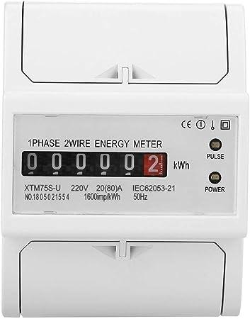2 MODULES COMPTEUR ENERGIE ELECTRIQUE kWh MONOPHASE POUR MONTAGE SUR RAIL DIN