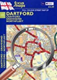 Full Colour Street Map of Dartford: Crayford - Gravesend - Northfleet