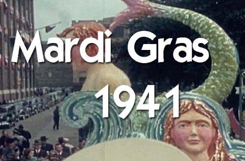 Classic Mardi Gras Parade & Float Films DVD: Historic 1941 New Orleans Mardi Gras Parade, Decorations, Floats, Celebration & Party Video Footage & Pictures (Mardi Gras Floats Ideas)