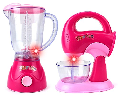 My First Kitchen Blender Mixer Pretend Play Battery Operated Toy Home Appliances Playset