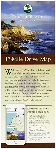 Pebble Beach Resorts 17 Mile Drive Map - Fold Out With Highlights And Points Of Interest