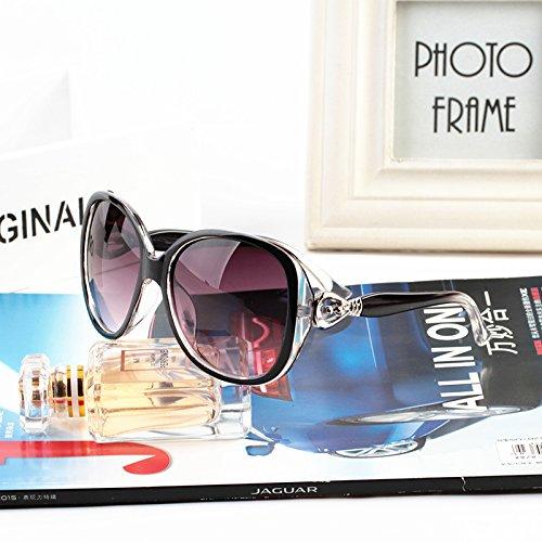 die neue koreanische runden gesicht star persönlichkeit sonnenbrille, damen flut retro, großen rahmen sonnenbrille sonnenbrille leopard (schicken sie tuch spiegel