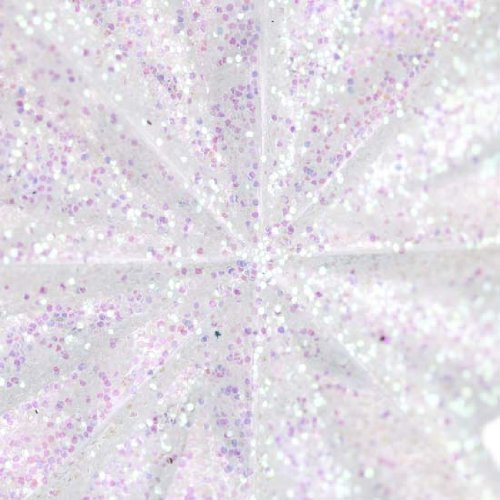 6 Sparkling Iridescent Decorative Miniature Tree Toppers for Embellishing Packages, Trees and Crafts