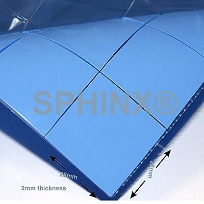 SPHINX® 10x Thermal Silicone Conductive Pad 25x25x2mm For Heatsink, Chip, PS 2 3 4, GPU, CPU, XBOX