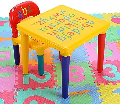 Hoker - Juego de Mesa y sillas de plástico para niños, Juguete Divertido para niños: Amazon.es: Juguetes y juegos