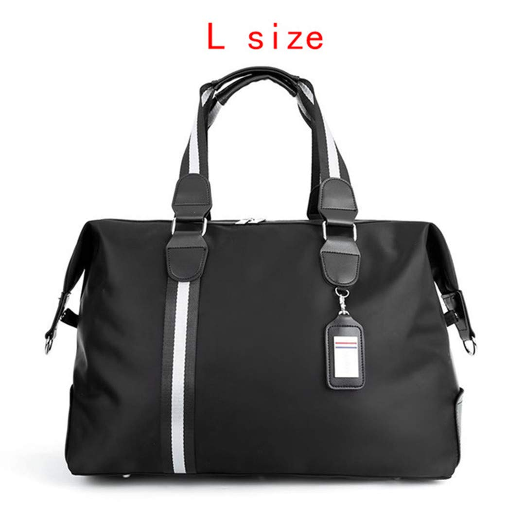 Nylon Travel Bag Large Capacity Women Hand Luggage Travel Duffle Bags Nylon Multifunctional Travel Bags M Black Travel Bag