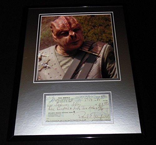 - Paul Winfield Signed Framed 11x14 Check & Photo Display Star Trek