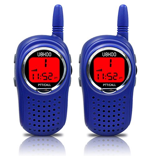 Great Features Of UOKOO Walkie Talkies for Kids, 22 Channel Kids Walkie Talkies FRS/GMRS 2 Way Radio 2 miles (up to 3 Miles) UHF Handheld Walkie Talkies for Kids with Watch and Alarm Clock Function (1 Pair)