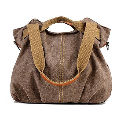 L Tela Khaki Size color Tracolla Brown Limeinimukete Messenger Di Borse A XnS0q6wz