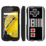 Cheap NES Video Game Controller – Motorola Moto E LTE 2015 2nd generation XT1527 Slim Guard Armor Black Phone Case by Mobiflare