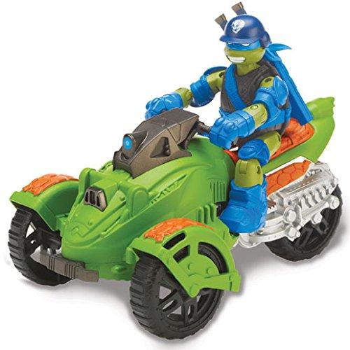 tortues ninja ninja at 3 vhicule tout terrain 3 roues et leonardo import royaume uni amazonfr jeux et jouets