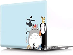 HRH Halloween Totoro Design Laptop Body Shell Protective PC Hard Case for MacBook Air 13