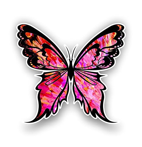 - Vinyl Junkie Graphics Monarch Butterfly Sticker 14 Custom Color Patterns (red-Pink)