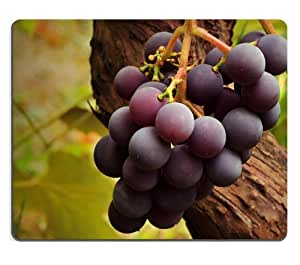 Grape Vine Nature Fresh Fruit Mouse Pads Customized Made to Order Support Ready 9 7/8 Inch (250mm) X 7 7/8 Inch (200mm) X 1/16 Inch (2mm) High Quality Eco Friendly Cloth with Neoprene Rubber Luxlady Mouse Pad Desktop Mousepad Laptop Mousepads Comfortable Computer Mouse Mat Cute Gaming Mouse pad