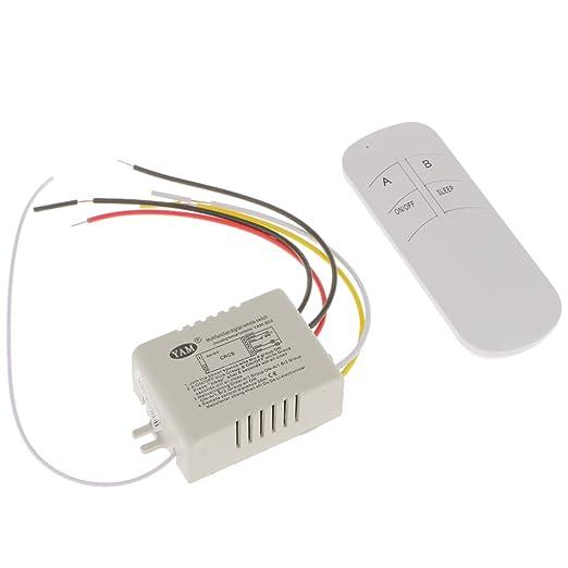 MagiDeal 1/2/3 Way Wireless Smart Lamp Light RF Remote Control ...