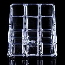 Anleolife Clear Acrylic Nail Polish Storage Box/Makeup Lipstick Organizer 9 Lattice
