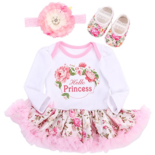 Fubin Baby Girl Clothes For Gift Newborn Photography Props Reborn Baby Dolls Dress Princess Long Sleeve 0-3 Months/21-23''/11-13lb