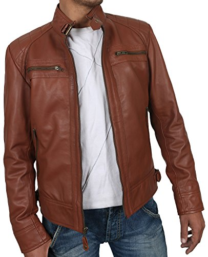 Tan Leather Jacket Mens - 6