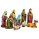 Kurt S. Adler 8'' Resin Nativity Table Piece Set (Set of 9), 9