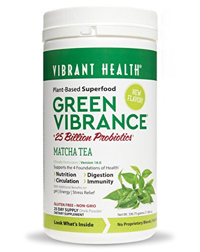 Green Vibrance Matcha Tea Vibrant Health 336.75g (11.8 oz) Powder