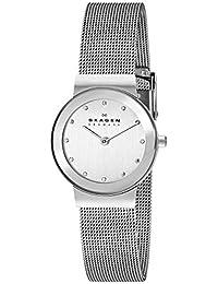 Skagen Women's 358SSSD Silver Dial Mesh Bracelet Watch