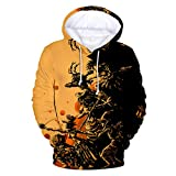 Alueeu Men's Hoodies Halloween Colorful Printed Fashion Tops Casual Scary Lover 3D Print Party Long Sleeve Blouse 2019 Yellow
