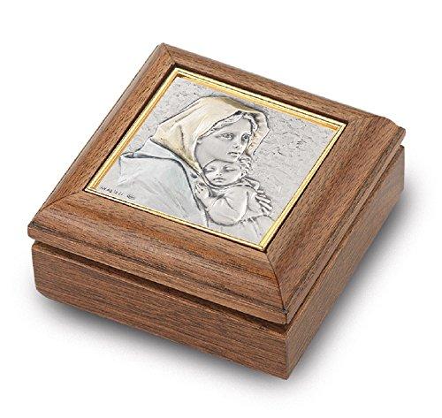 - Genuine Walnut Madonna of the Street Keepsake Box