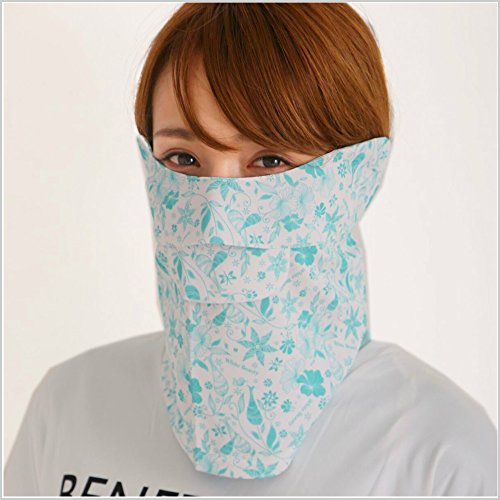 UVカットフェイスカバー C型 フローラル (UVカットフェイスマスク)