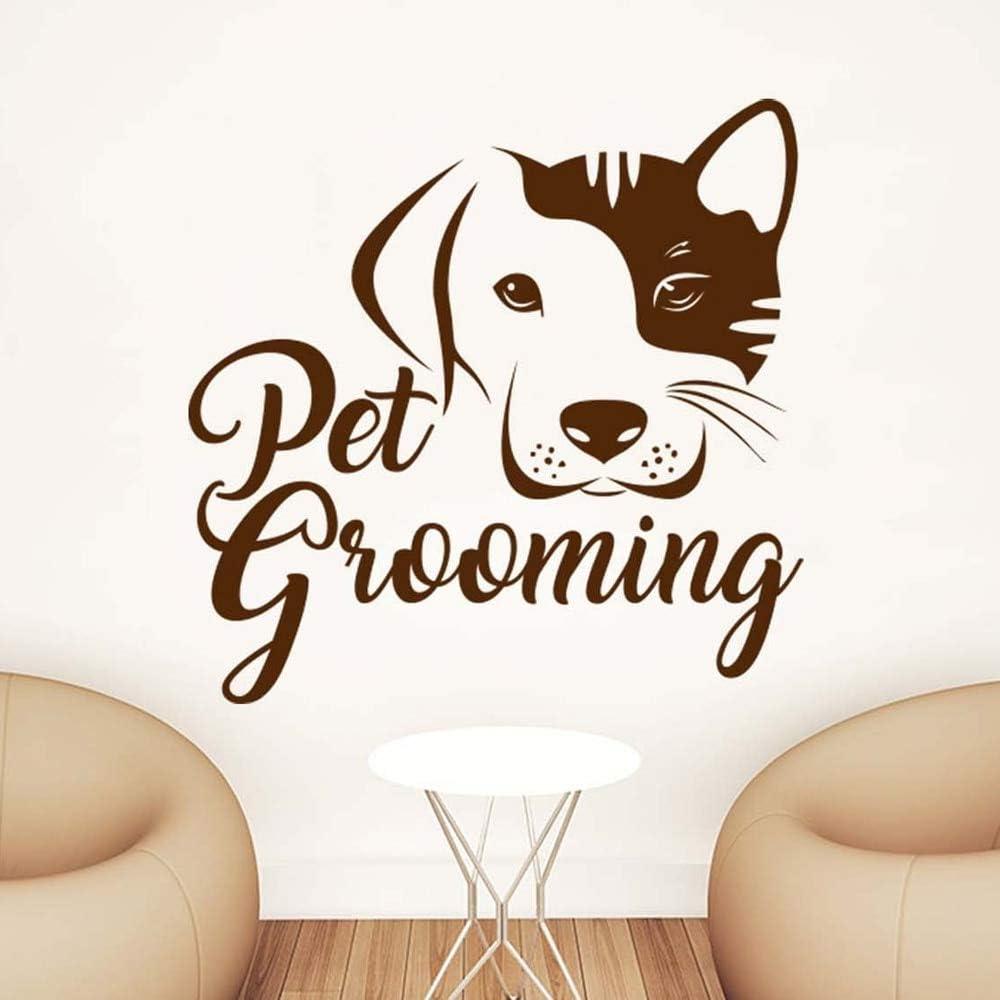 Pegatina de pared de vinilo para mascotas tienda veterinaria para mascotas personaje de película para mascotas personaje hombre