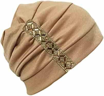 46dbea36e9589 Qunson Womens Chemo Hat Beanie Turban Headwear for Cancer Patients