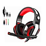 Gaming Headset GM-2 Headphone Over-ear Stereo Bass Wired Headphone LED Light with Mic for PlayStation 4 PS4 PC Laptop Xbox One Phones Surround Headset 3.5mm 7.1 USB Volume Control Noise Canceling